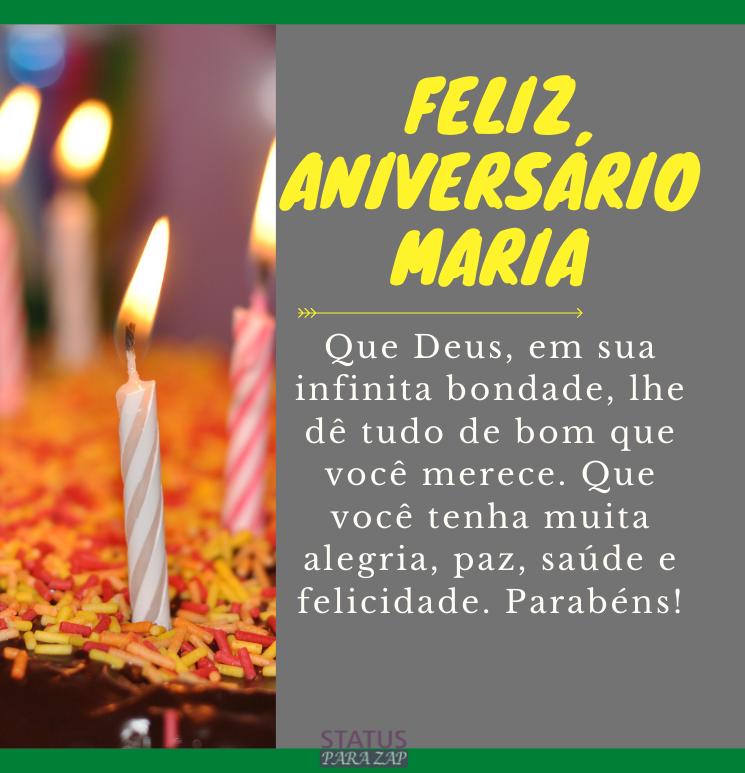 Feliz Aniversário Maria