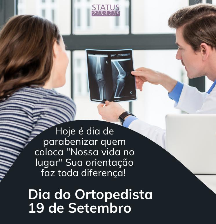 Parabéns a todos os ortopedistas pelo seu dia