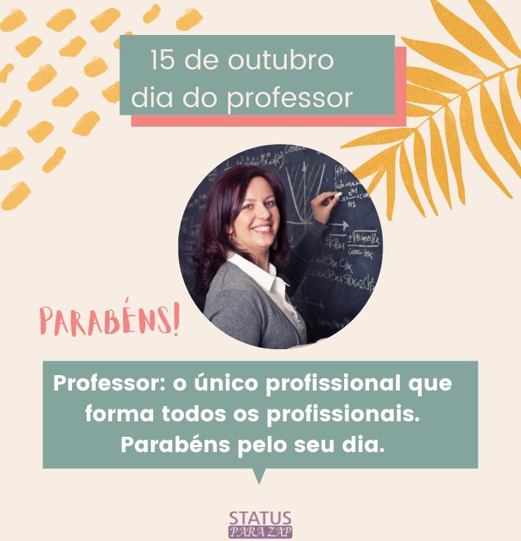 Professor o único profissional que forma todos os profissionais.