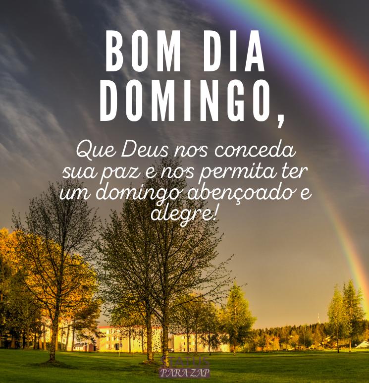 Que Deus nos conceda sua paz e nos permita ter um domingo abençoado e alegre!